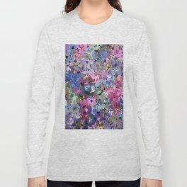 Little Blue Delphiniums Long Sleeve T-shirt