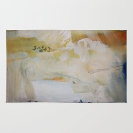 White abstract art  Rug