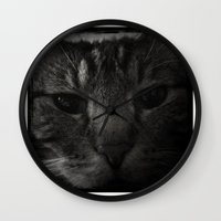 sofa Wall Clocks featuring Sofa Loaf Face BW by Nearlycanadian