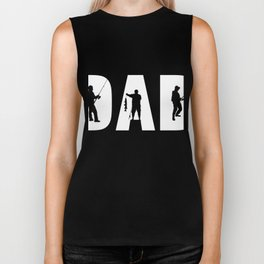 Perfect Shirt For Fishing Dad From Kids. Biker Tank
