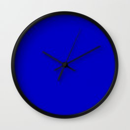 Bright Blue Wall Clock
