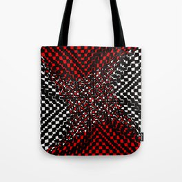 black white red 3 Tote Bag