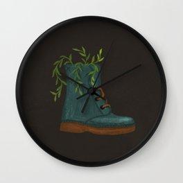 Blooming Boots Wall Clock