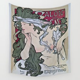 March April 1896 20th Salon des 100 Art Expo Paris France Wall Tapestry