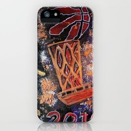 raptors 4,champion,basketball,gold,poster,wall art,2019,winners,NBA,finals,toronto,canada,painting iPhone Case