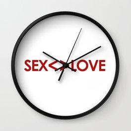 Sex is not Love Concept Design Wall Clock