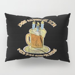 Birthday Beer Alcohol Cake Pillow Sham