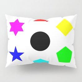 Seven Deadly Shapes Color Pillow Sham