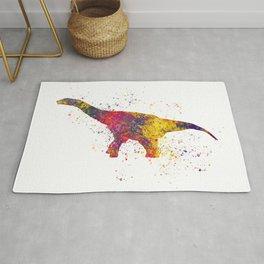 Argentinosaurus dinosaur in watercolor Rug