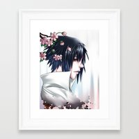 sasuke Framed Art Prints featuring Sasuke Uchiha by Clockworkjoker92