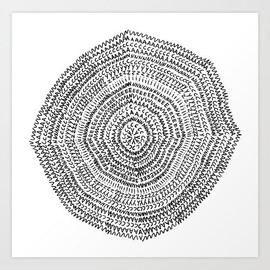 Vacancy Zine Mandala I B&W Art Print
