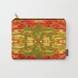 French Tapestry Style Red Poppy Floral Carry-All Pouch