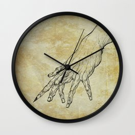 The Sixth Finger of the Writer Wall Clock