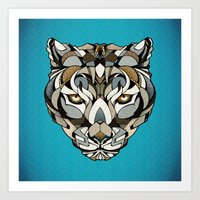 leopard Art Prints featuring Leopard by Andreas Preis