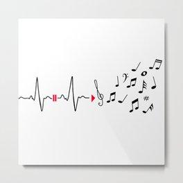 Musical pulse Metal Print