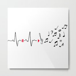 Musical pulse Metal Print