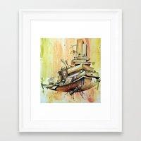 school Framed Art Prints featuring school by Andreas Derebucha