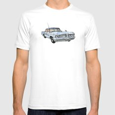 Old Pontiac MEDIUM White Mens Fitted Tee