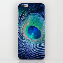 Peacock Feather Blush iPhone Skin