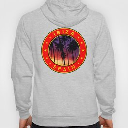 Ibiza, sunset, circle Hoody