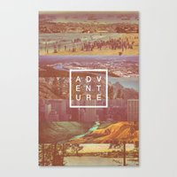 adventure Canvas Prints featuring Adventure by Zeke Tucker