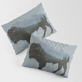 Wyoming Bison Flag Pillow Sham