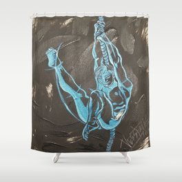 Swinging High Shower Curtain
