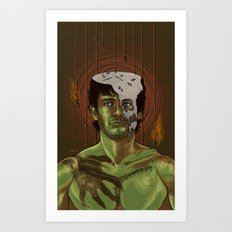 Somebody help Will Graham Art Print