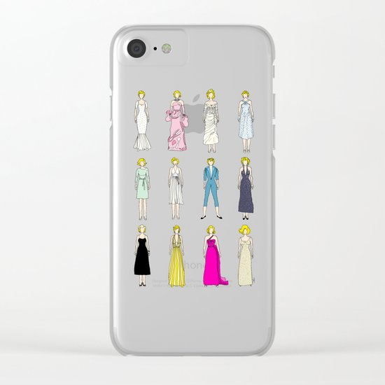 Outfits of Marilyn Fashion (White) Clear iPhone Case