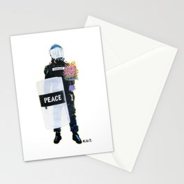 Peace Officer Movement By K.U.T. Stationery Cards