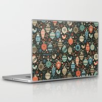 folk Laptop & iPad Skins featuring Festive Folk Charms by Poppy & Red