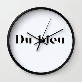 119. Blue Wall Clock