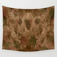 camouflage Wall Tapestries featuring Camouflage... by Cherie DeBevoise