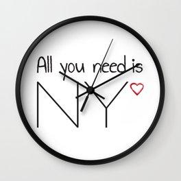 All you need is NY Wall Clock
