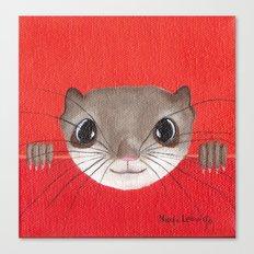 Cute baby Squirrel Bright Bold Colors Childrens decor Nursery Art Canvas Print