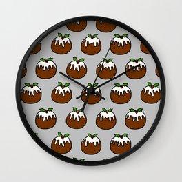 Xmas Puddings Wall Clock