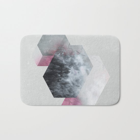Exagonal Winter Bath Mat