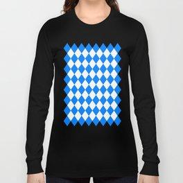 Diamonds (Azure/White) Long Sleeve T-shirt