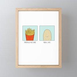 Profile picture vs Real life Framed Mini Art Print