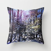 wildlife Throw Pillows featuring Wildlife by Olivier P.