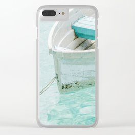 Small Boat In Clear Water Clear iPhone Case
