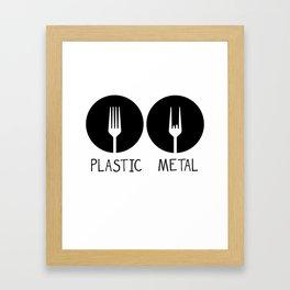 Metal French Fry Fork Devil Horns Festival Gift Framed Art Print