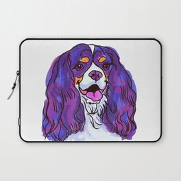 The happy tricolor Cavalier King Charles Spaniel Love of My Life! Laptop Sleeve