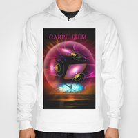 carpe diem Hoodies featuring Carpe Diem by Walter Zettl