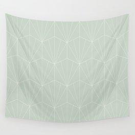 Gisela Geometric Line Pattern - Sage Wall Tapestry