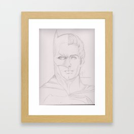 Dawn of Justice (sketch) Framed Art Print
