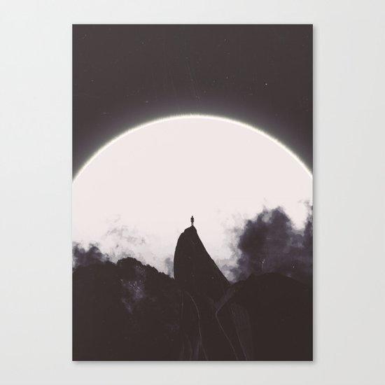 Abaddon Black & White Canvas Print