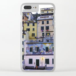 Colourful courtyard of Riomaggiore Clear iPhone Case
