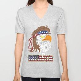 Eagle America USA Ms. Stark Independent Gift Unisex V-Neck