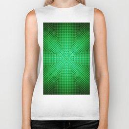 Modern geometric emerald pattern abstract Biker Tank